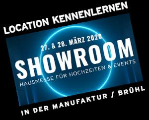 Showroom by Metz Catering – Banner 2020 Hochzeitsmesse + Eventlocations Köln Bonn